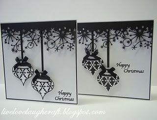 .: Christmas Cards, Memories Boxes, Happy New Years, Cards Ideas, White Christmas, Black White, Pinnacle Crafts, Christmas Ornaments, The Boxes