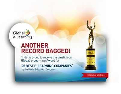 Tridat is proud to receive the prestigious  Global e-Learning Award for '25 Best E-learning Companies' by the World Education Congress.  #ElearningCompanies #TridatTechnologies #TridatIndia