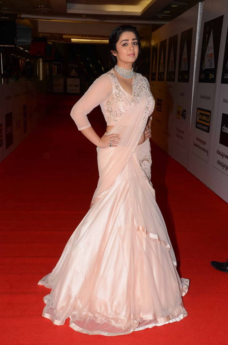 Charmy Kaur Photos In Pink Dress At Cinemaa Awards