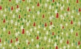"""""""Christmas Trees on Green""""  Modern Fabric by Fat Quarter/Metre by Makower"""