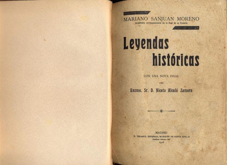 Mariano Sanjuan Romero - Leyendas históricas - Santisteban del Puerto (Parte 1)