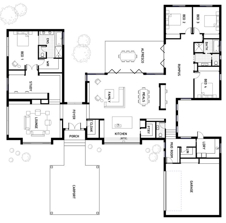 Floor Plan Friday: Designer and spacious family home