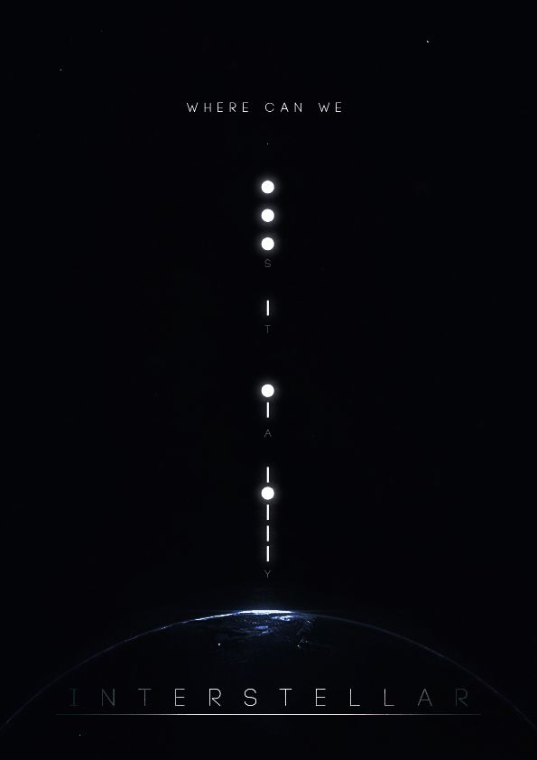 interstellar fan made poster http://itsparame.tumblr.com/post/103389022527/interstellar-fan-made-poster-awesome-movie-and