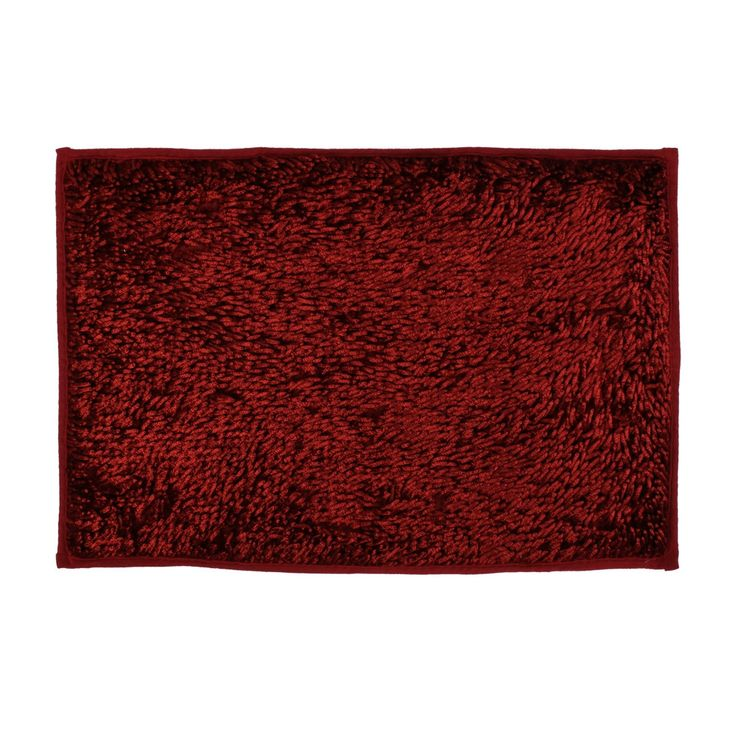 Unique Bargains Rectangle Living Room Bedroom Floor Area Anti-Slip Rug Carpet Mat 60cmx40cm Red