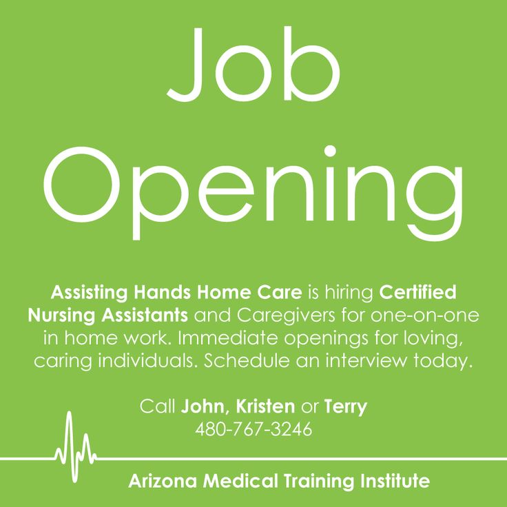 Assisting hands home care is hiring certified nursing