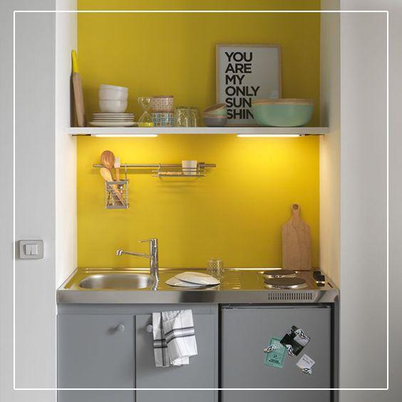 Les 17 meilleures images concernant d co jaune sur - Peinture jaune pale ...