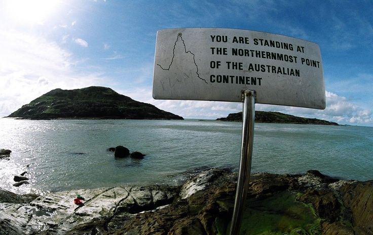 Tip of Cape York, Australia been there. :)