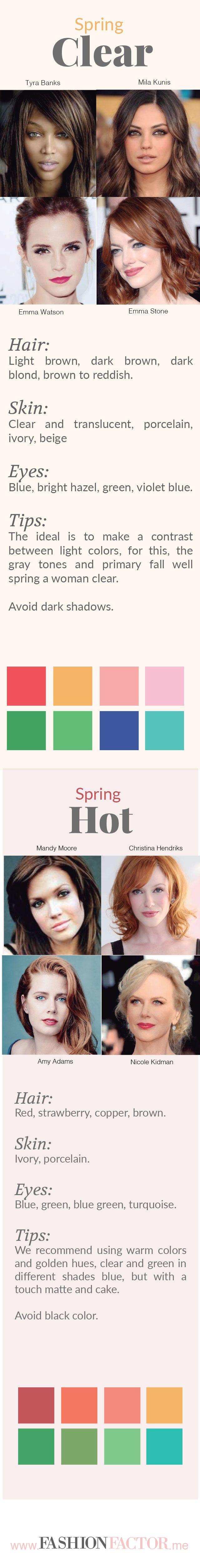 Tipos de piel primavera , Piel primavera , Tonos de piel primavera , Mujer primavera características , Qué va mejor en una piel primavera , Colores para tu piel primavera , Características piel primavera
