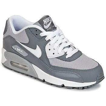 Sportliches Aussehen AIR MAX 90 MESH JUNIOR Grau/ Schuhe Weiss für kinder Preis: 99,99 €  #Schuhe jungen #NikeSneake #kinderschuhe
