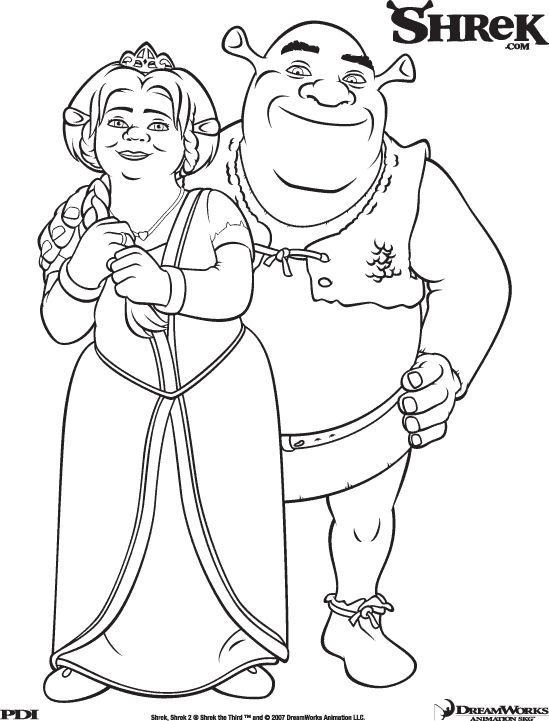 schreak coloring pages free - photo#16