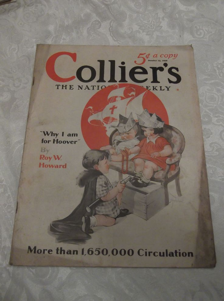 VINTAGE COLLIER'S WEEKLY MAGAZINE-OCTOBER 13,1928-ART DECO-ILLUSTRATED-ADS