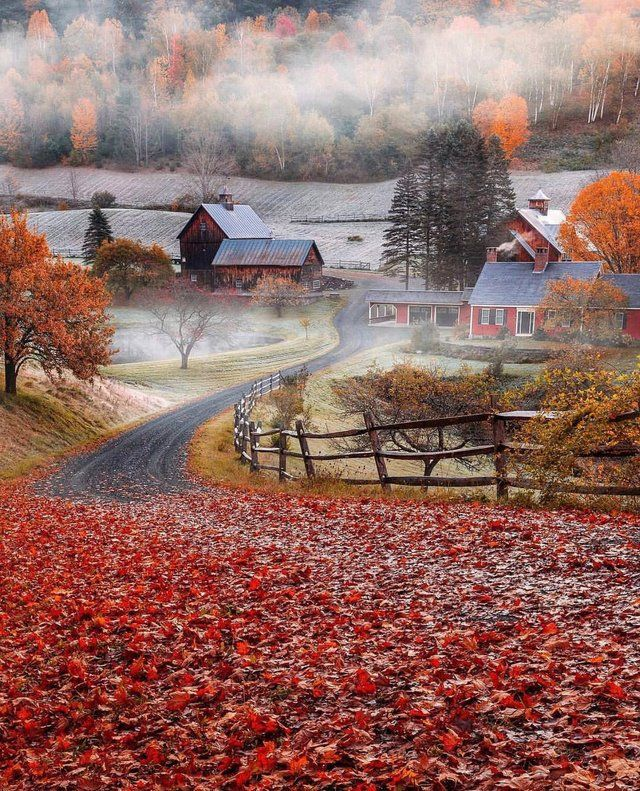 Morning In Huntington Vermont Pics Autumn Scenes Scenery Nature