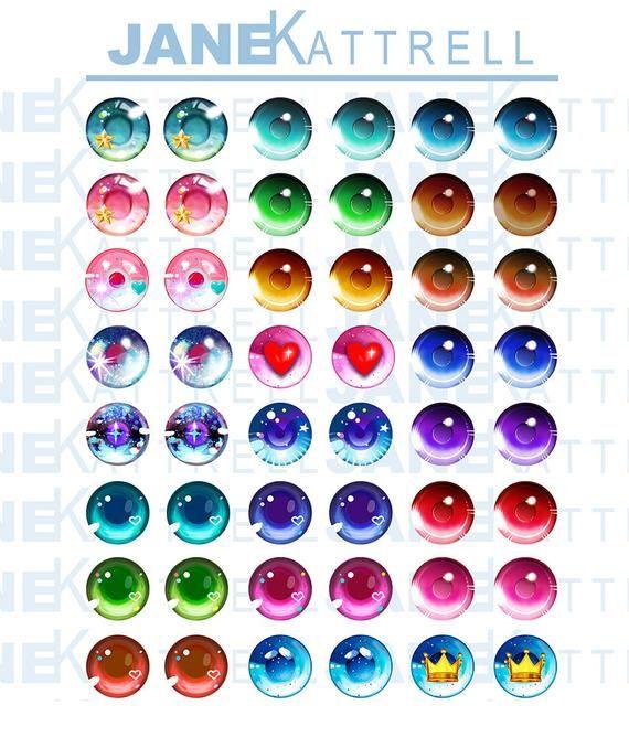 Blythe Printable Diy Eye Chips Pdf Anime 1 Theme Etsy In 2020 Anime Eye Drawing Eye Color Chart Eye Drawing
