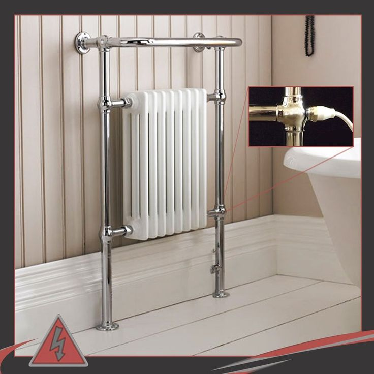 "673mm(w) x 963mm(h) ""Old Colwyn"" Traditional Electric Heated Towel Rail, Radiator. Supplied Pre Filled with a 500w Electric Element.: Amazon.co.uk: Kitchen & Home"