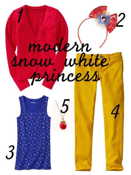 Modern Disney Outfits -Modern Snow White