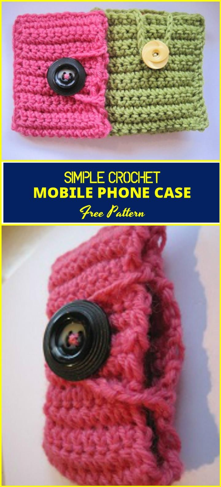 50 Free Crochet Phone Case Patterns - Page 3 of 5 - DIY & Crafts