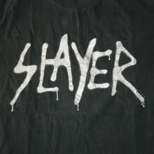 Vintage SLAYER UNDISPUTED ATTITUDE 1996 PROMO T-Shirt 90s