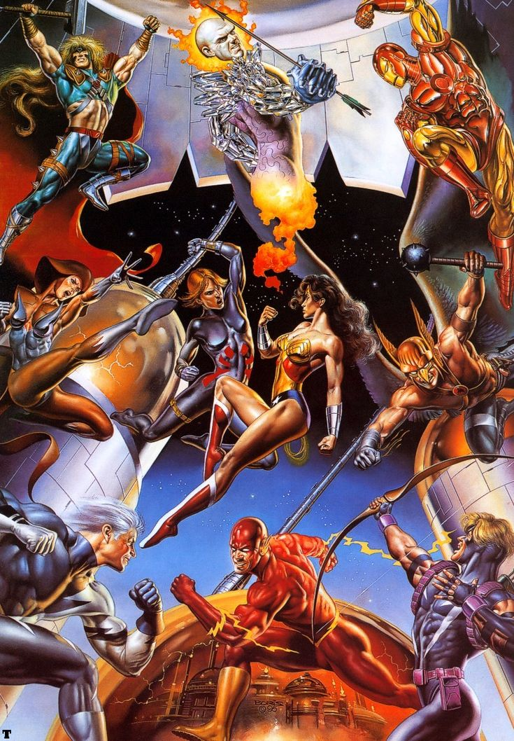 Boris Vallejo - Marvel DC Team Up