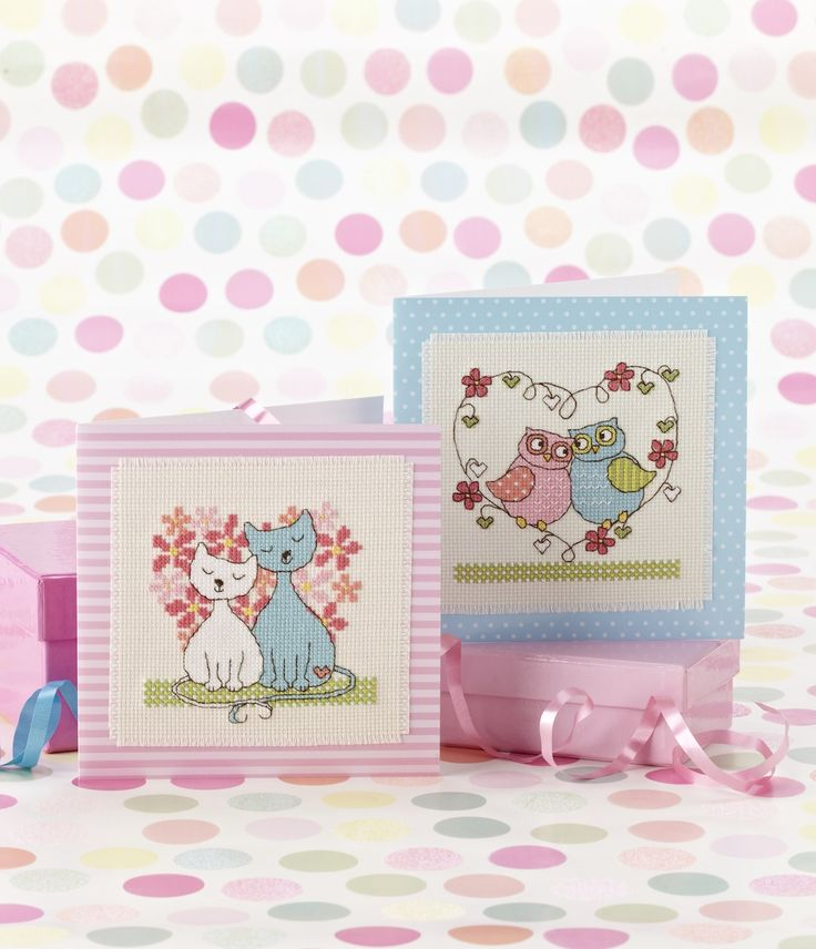 Love-ly creatures: Angela Poole has designed the perfect Valentine's Day cards on p.25 http://www.myfavouritemagazines.co.uk/stitch-craft/cross-stitch-collection-magazine-back-issues/cross-stitch-collection-february-14-issue-232/
