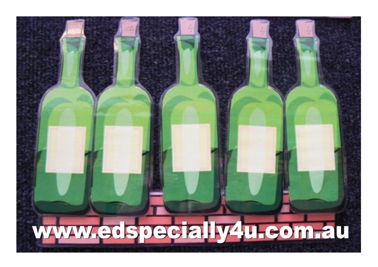 10 Green Bottles Sitting on the Wall-a motivating and hands-on learning resource for your music/singing, literacy and numeracy programs.  Visit www.edspecially4u.com.au to see all of our visual singing resources