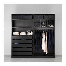 PAX Wardrobe - 200x66x201 cm, soft closing damper - IKEA