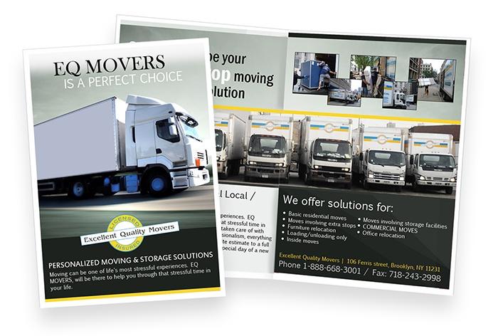EQ Movers   Brochure Design