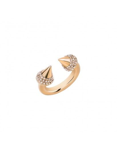 Titan Crystal Ring in Rose Gold with Champagne Crystals #VitaFede #Swarovski #stackable