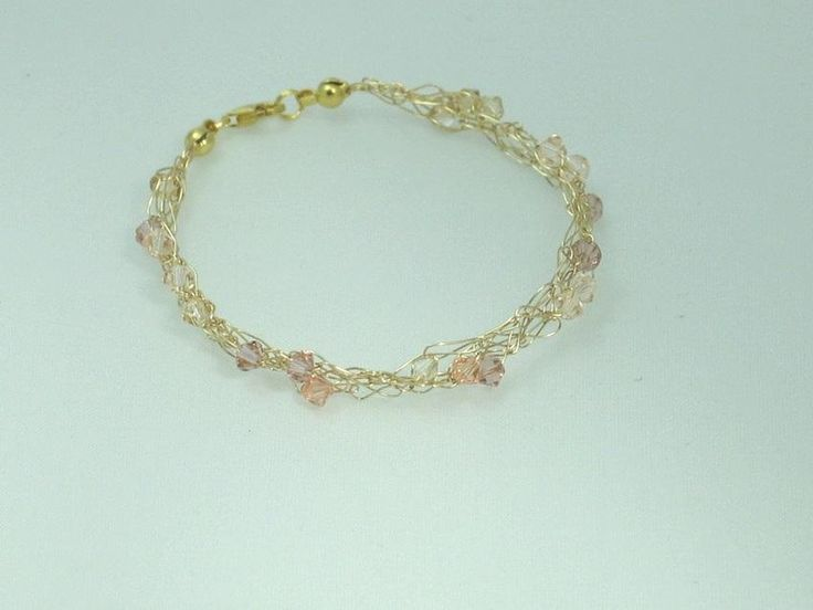 14k gold filled armband mit swarovski in nude rose. Black Bedroom Furniture Sets. Home Design Ideas
