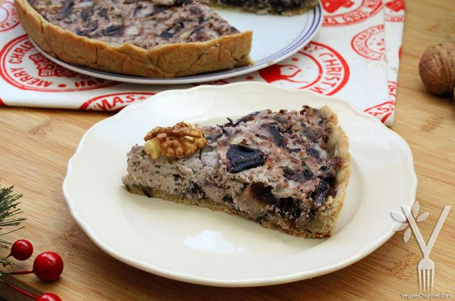 Veglife Channel : Torta salata al radicchio con funghi, noci e tofu (senza glutine) | Menu di Natale