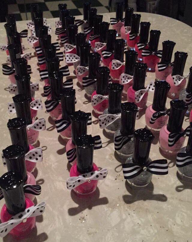 Nail Polish Favors Kate Spade Inspired