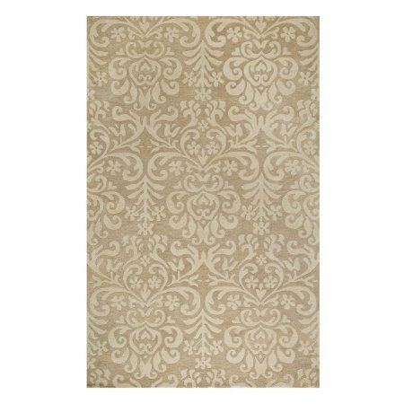 Williamsburg Lace Hand-Tufted Area Rug, Beige