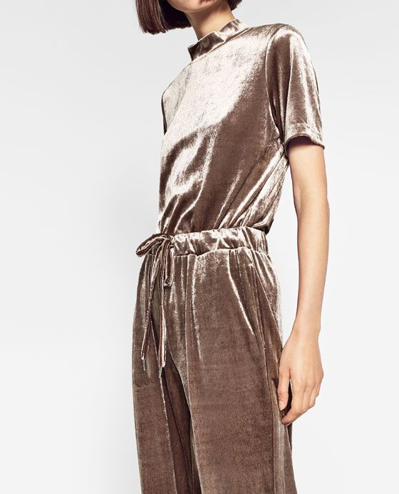 Image 2 of VELVET JOGGING TROUSERS from Zara