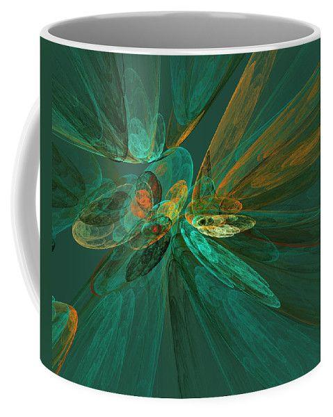 Fractal Fantasy Background In Green Shades By Irina Safonova Background Coffee Mug featuring the photograph Fractal Fantasy Background In Green Shades by Irina Safonova #IrinaSafonovaFineArtPhotography #food #Rustic #ArtForHome#CoffeeMug