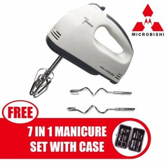 Buy Microbishi MHM-777/MHM-502 HE-133 Professional Electric Whisks Hand Mixer with free Microbishi 7-in-1 Manicure Set with Case (Dark Brown) online at Lazada. Discount prices and promotional sale on all. Free Shipping.