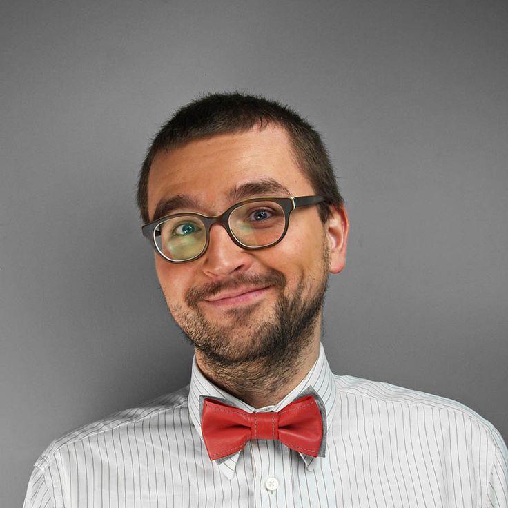 leather bow tie www.puroldesig.pl