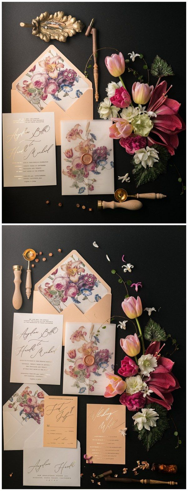 vintage country garden wedding invitations%0A Newest    Vintage  u     Botanical Wedding Inviations from  LOVEPolkaDots