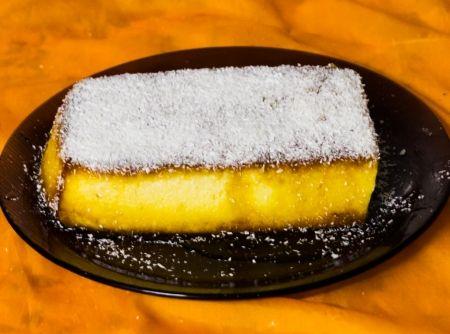 Receita de Pudim de Farinha de Tapioca com Abacaxi - Cyber Cook...
