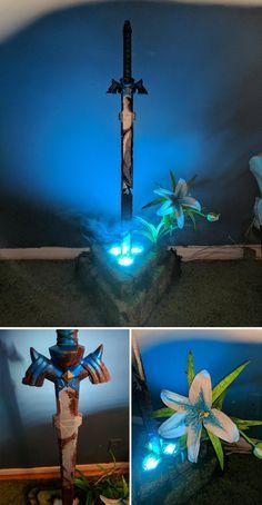 Life Sized LED Master Sword Statue