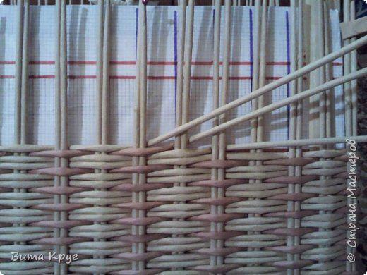 Мастер-класс Поделка изделие Плетение Короба коробочки  Бумага газетная Трубочки бумажные фото 17
