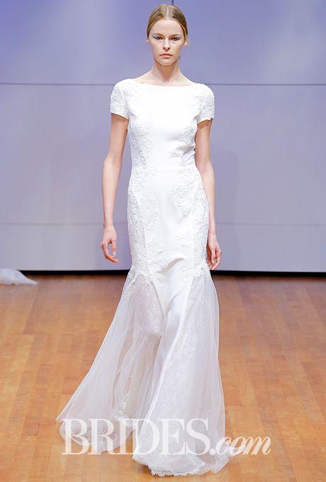 Crepe and lace wedding gown Rivini by Rita Vinieris Wedding Dress - Fall 2016 - Brides.com