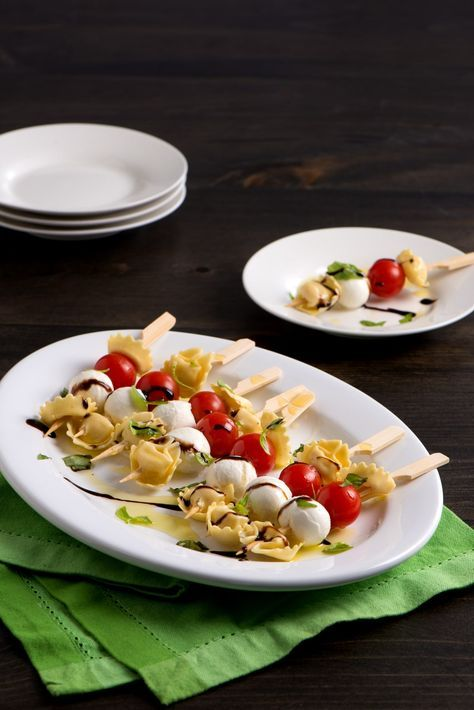 Need an easy party dish to feed a crowd? This simple tortellini antipasto skewers appetizer with fresh flavors can be assembled in minutes.