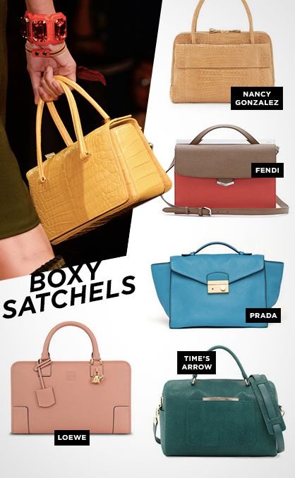 Spring 2014 Must-Have Handbag Trend: The Boxy Satchel