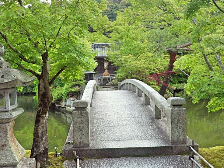 Stone bridge Eikando  gardens May 2017