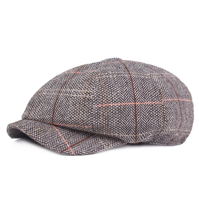 Mens Women Sheepskin Leather School Army Newsboy Hats Lip Flat Caps Baseball Cap
