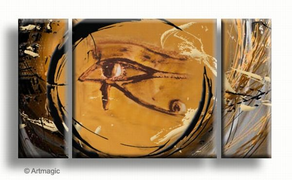 Egyptische schilderijen - 't oog van Horus