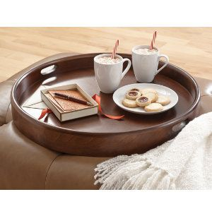 Round ottoman tray collection miscellaneous pinterest for Where to put ottoman