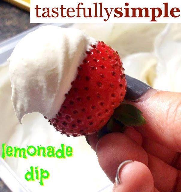 Tastefully Simple - Lemonade Dip http://www.tastefullysimple.com/web/ewills