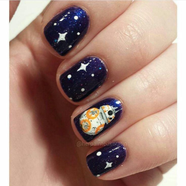 BB-8/ The Force Awakens nail art!