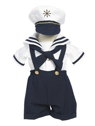 Baby & Boys Sailor Outfit... Would be cute to hve him wear it and then hang it on the wall in a shadow box...