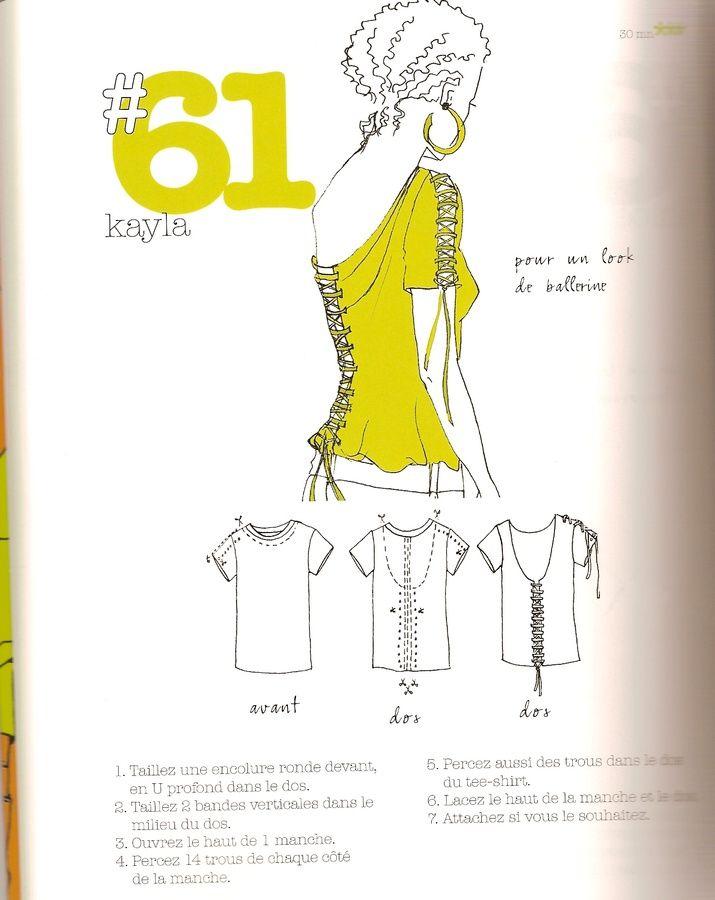 Les Fées Tisseuses :: Transformation de tee-shirt en...